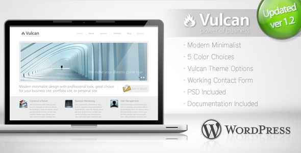 Vulcan - Minimalist Business Wordpress Theme Free Download by ThemeForest.