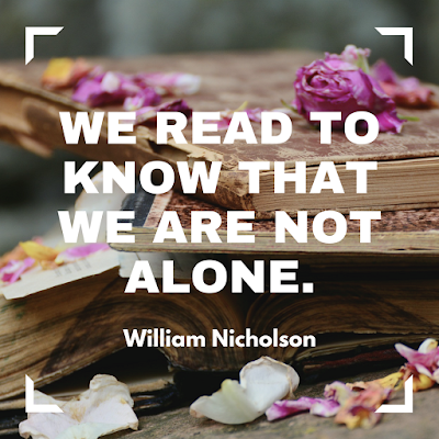 We read to know that we are not alone. #books #readeveryday