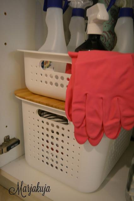 Orthex smartstore basket keittiossa