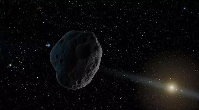 Ilustrasi objek misterius 2016 WF9, asteroid atau komet? (Wikipedia/NASA)