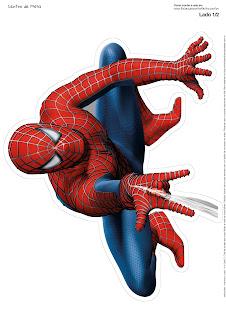 Spiderman: Centros de Mesa para Imprimir Gratis.