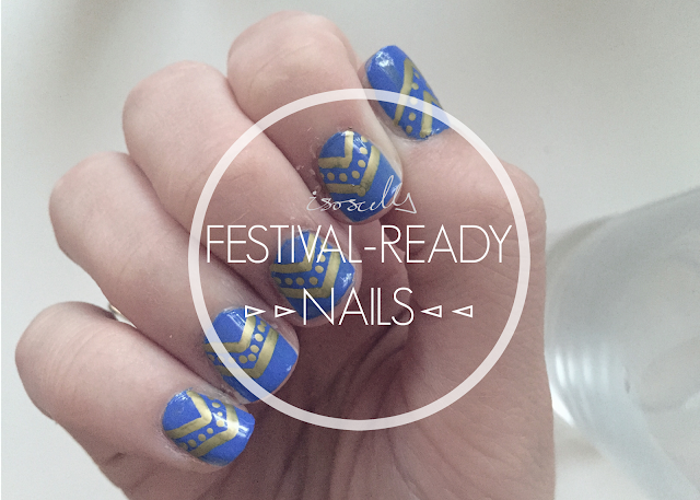 Festival ready nail art how to DIY header