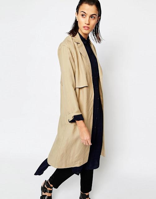 camel duster coat, warehouse camel coat, camel lightweight coat,