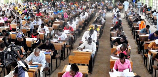 Students in JAMB exam hall