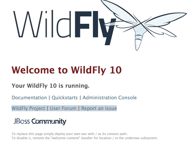 intext:Welcome to WildFly 10 & intitle:Welcome to WildFly 10 -jboss