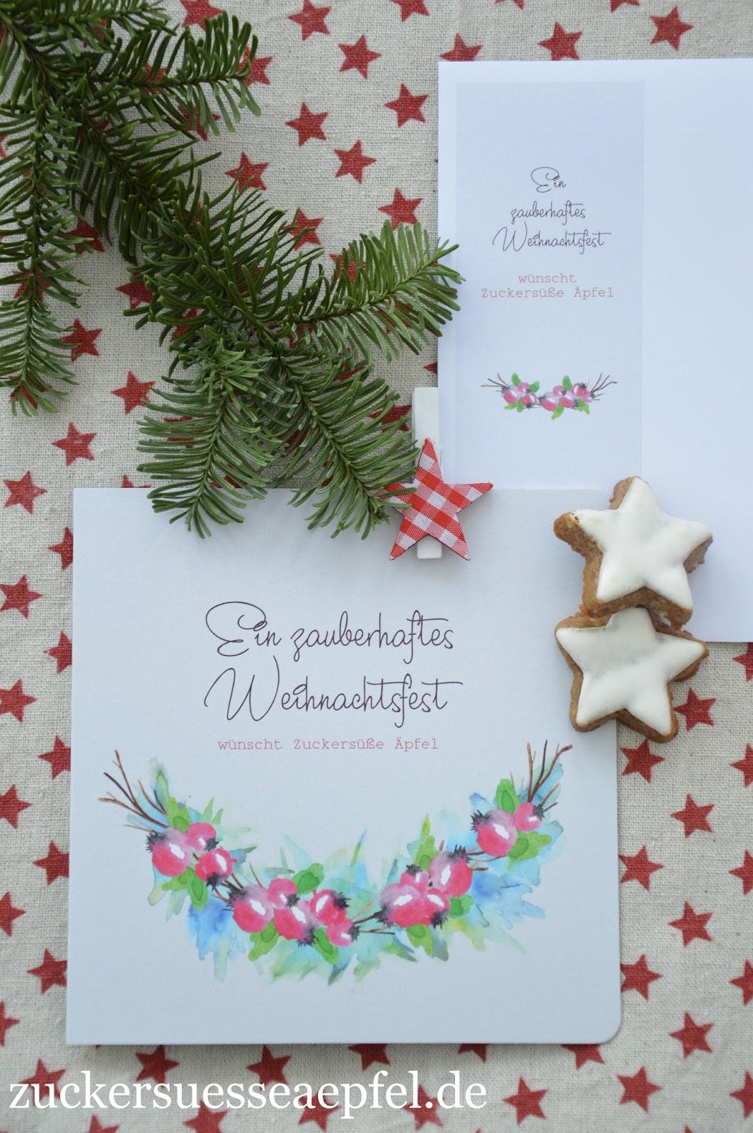 anzeige die sch nsten weihnachtskarten als dankesch n. Black Bedroom Furniture Sets. Home Design Ideas