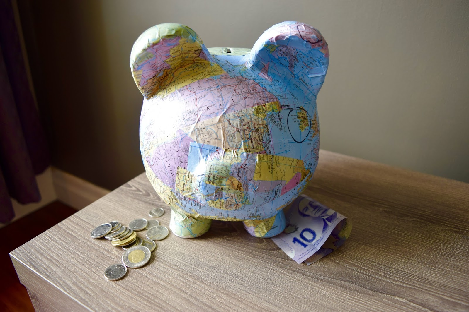 Project seasonal travel fund piggy bank for Travel fund piggy bank