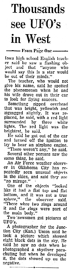 Thousands See Zig-Zagging Objects (-Cont) - Syracuse Herald-Journal 8-4-1965