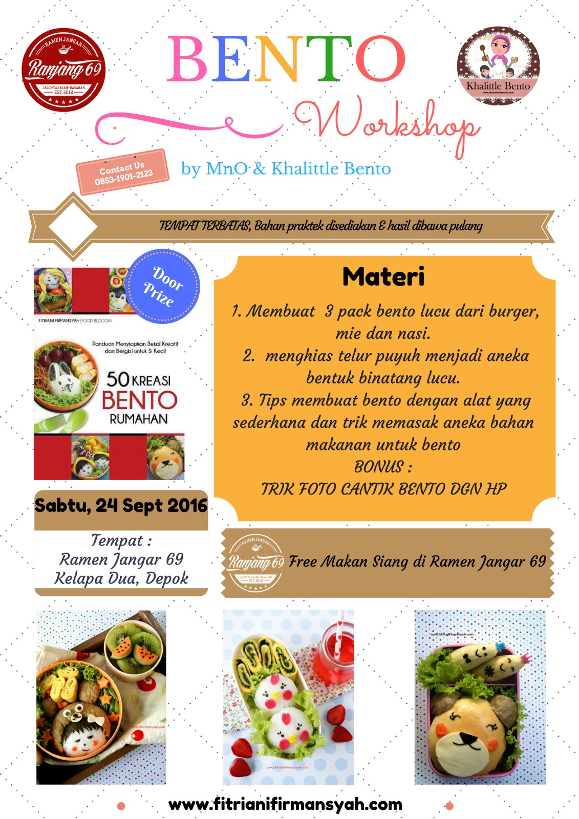 My Kind Of Wonderful Ikutan Workshop Basic Bento Yuk