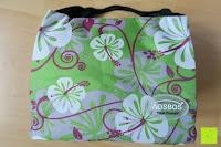 Erfahrungsbericht: Aosbos Wasserdichte Lunch Tasche Isolierte Thermo Picknicktasche für Lebensmitteltransport(Grün Blumen)