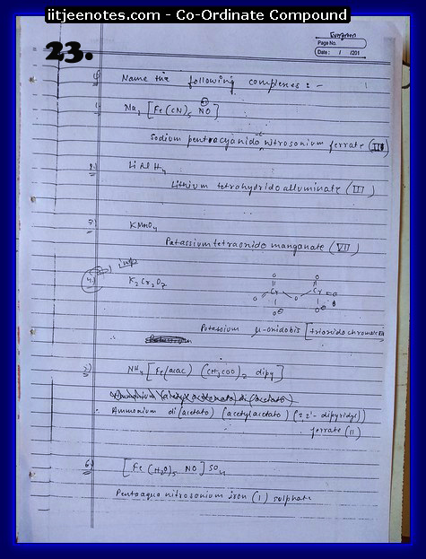 Coordinate Compound Notes8