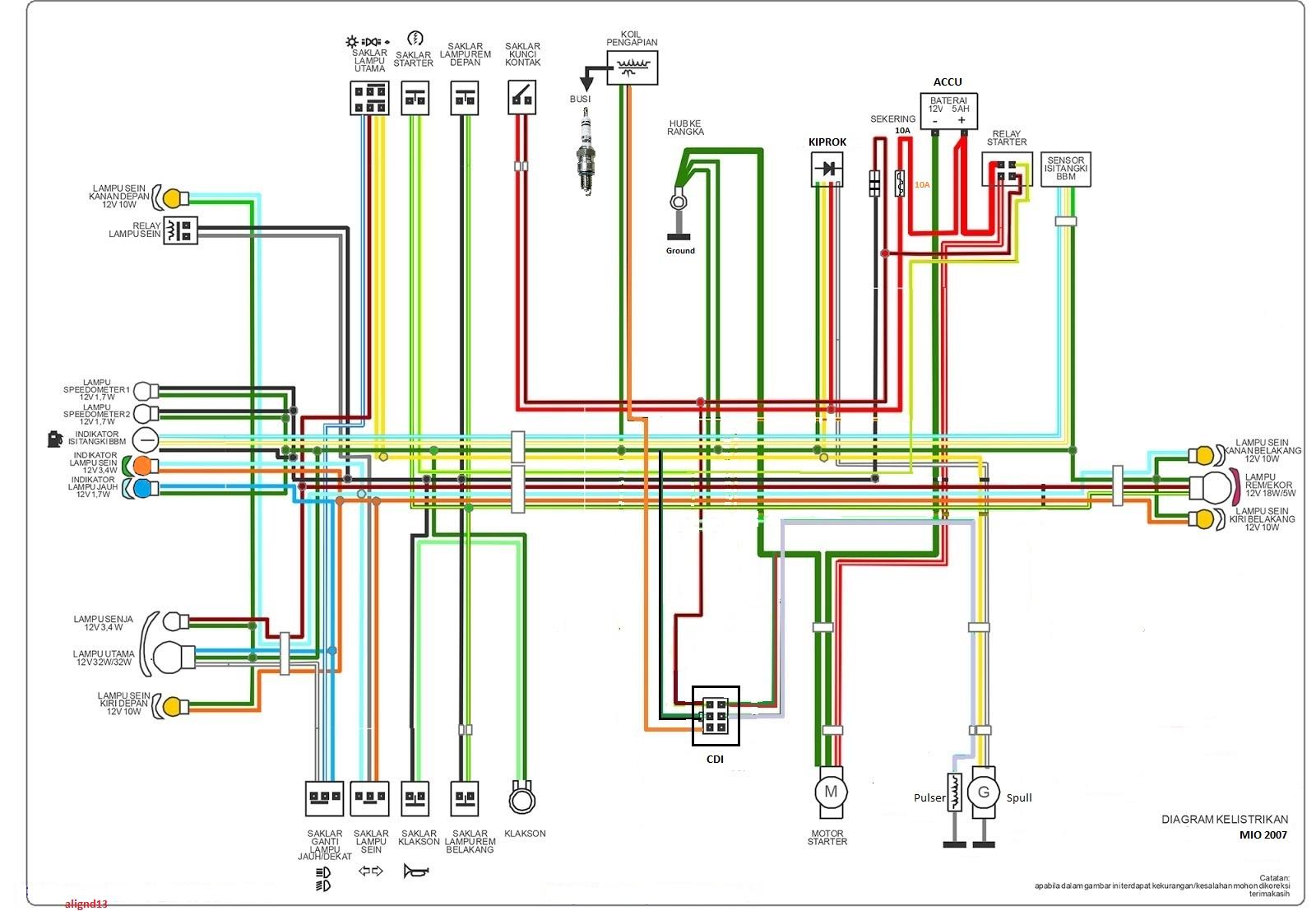 diagram kelistrikan mio [ 1600 x 1107 Pixel ]