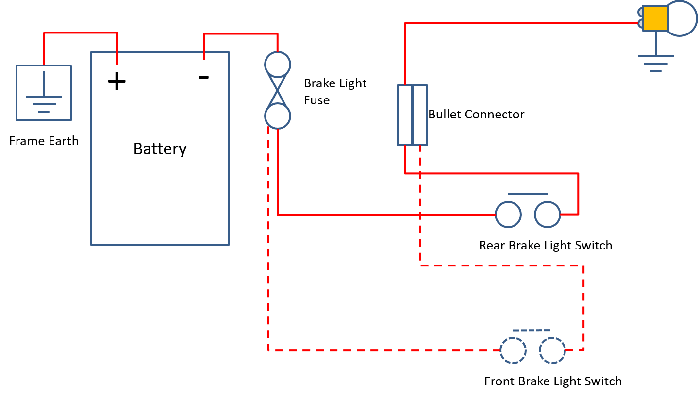 Brake Light. Here's a useful circuit diagram ...