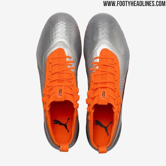 Silver   Orange Next-Gen Puma ONE 1 2018-19 Boots Released - Footy ... adb42cf01