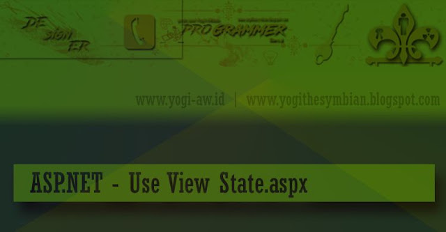 ASP.NET - Use View State.aspx Open Source