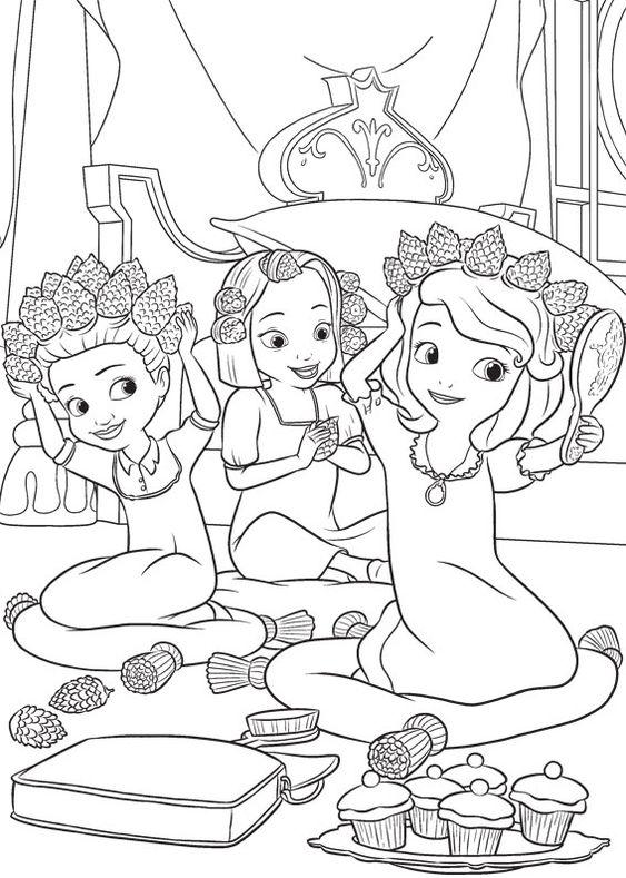 Tranh cho bé tô màu ông chúa Sofia 12