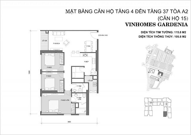 15 - Tòa A2 Vinhomes Gardenia