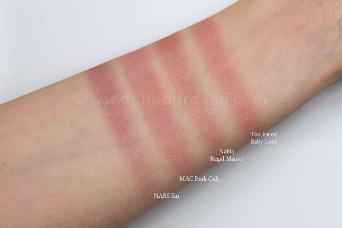 Nabla regal mauve swatch blush