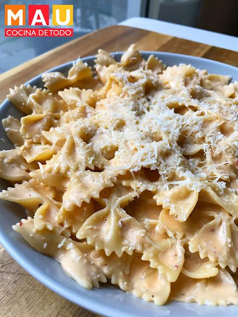 mau cocina de todo pasta al chipotle receta facil