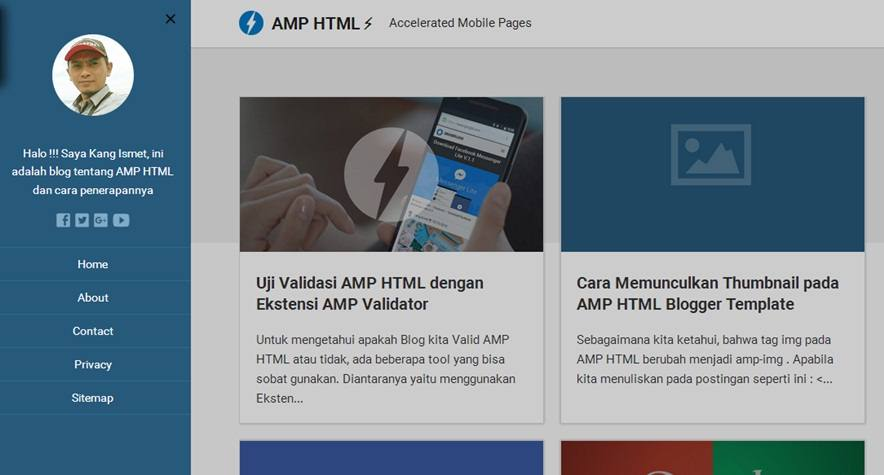 4 New Template Valid AMP HTML Super SEO Friendly & Free