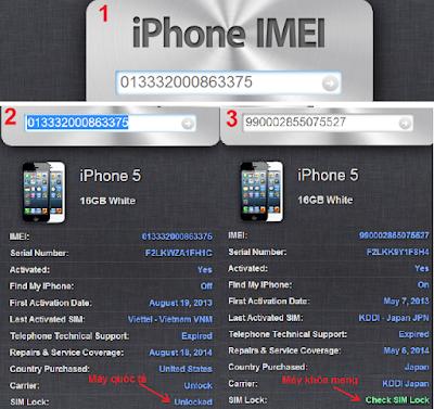 Huong dan cach kiem tra iPhone 5 hang lock
