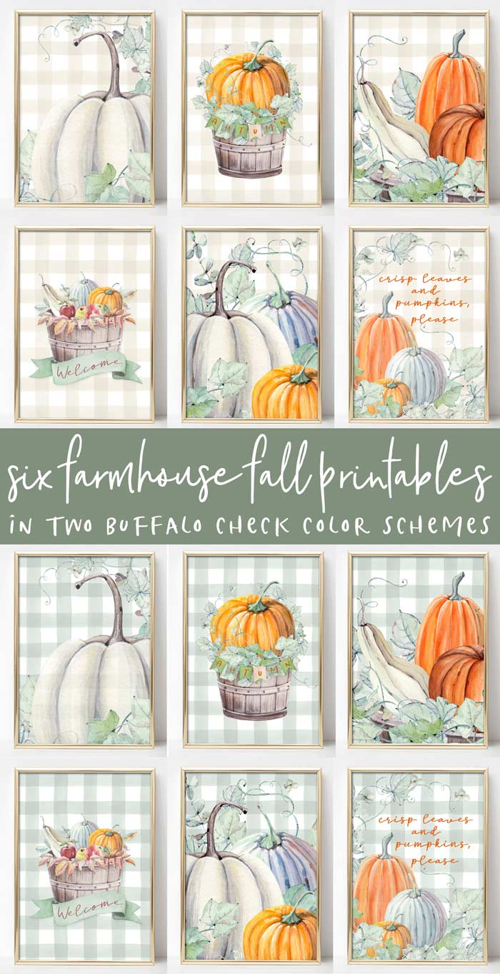Buffalo Check Farmhouse Printables