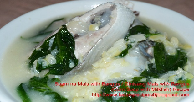 Suam Na Mais Or Ginisang Mais With Bangus (Corn Soup With Milkfish) Recipe