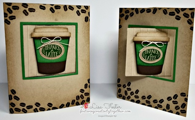 Coffee Café, Fun Fold, Lever Card, Stampin up