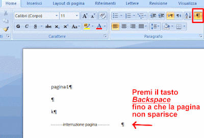 Come cancellare una pagina Word