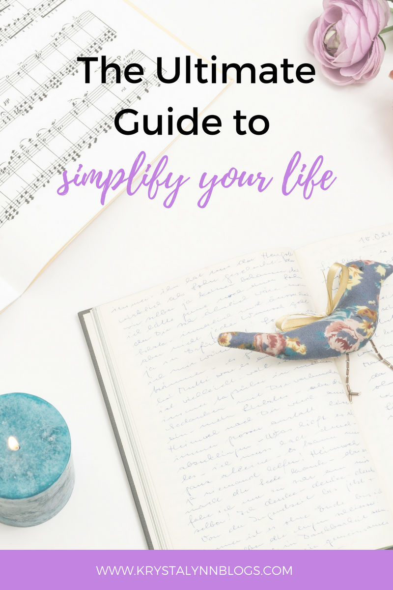 Life can get pretty crazy at times, which is why it's so important to learn how to simplify your life!