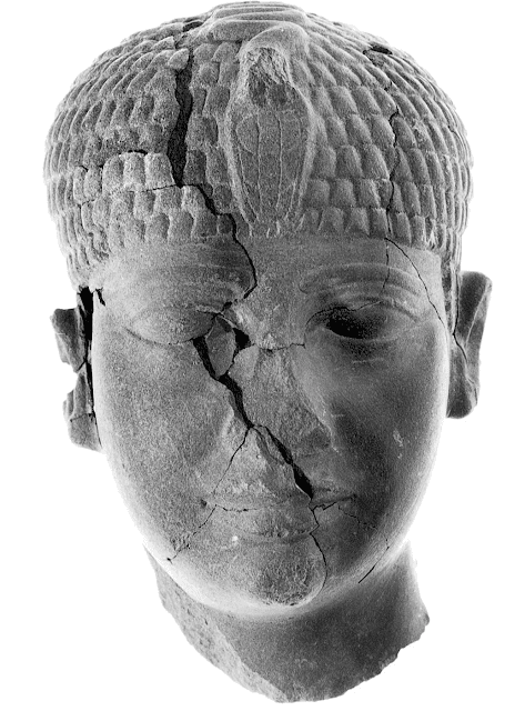 4,300 year old smashed statue head shows unknown Egyptian pharaoh