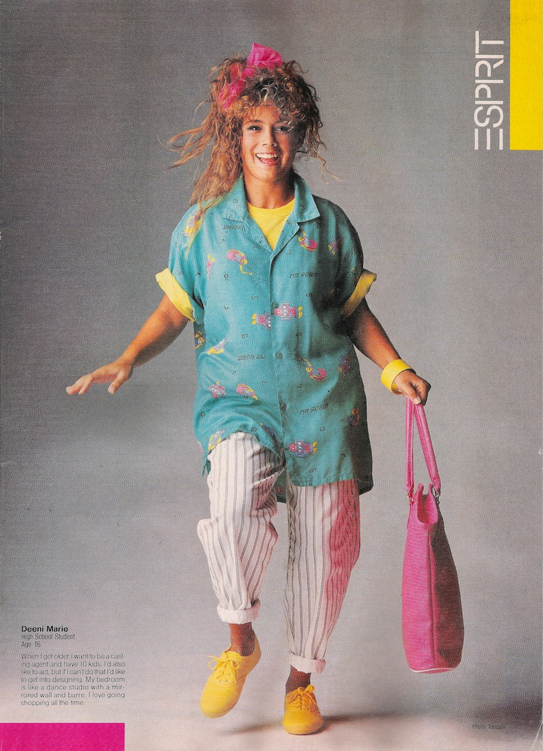 80s Fashion Trends 35 Iconic Looks From The Eighties: Glossy Sheen: Esprit Ads From The 80's