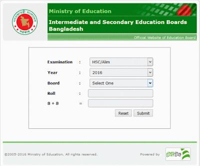 HSC Result 2017 bangladesg