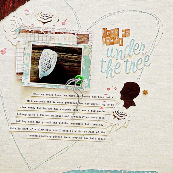 From High in the Sky: scrapbooking with photos of objects for Get It Scrapped