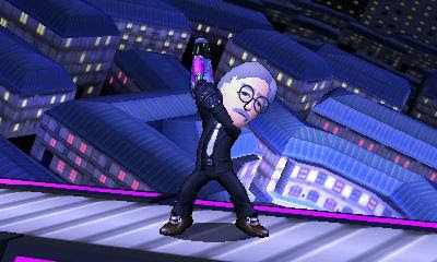 Mark Block Mii in Super Smash Bros. For 3DS.