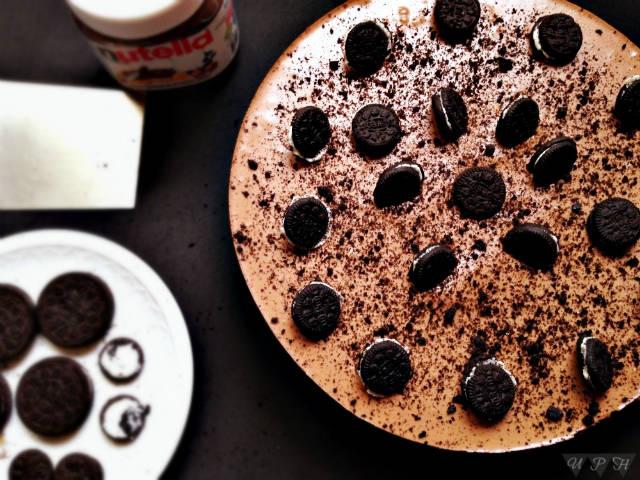 tartas fáciles sin horno tarta de nutella y oreo