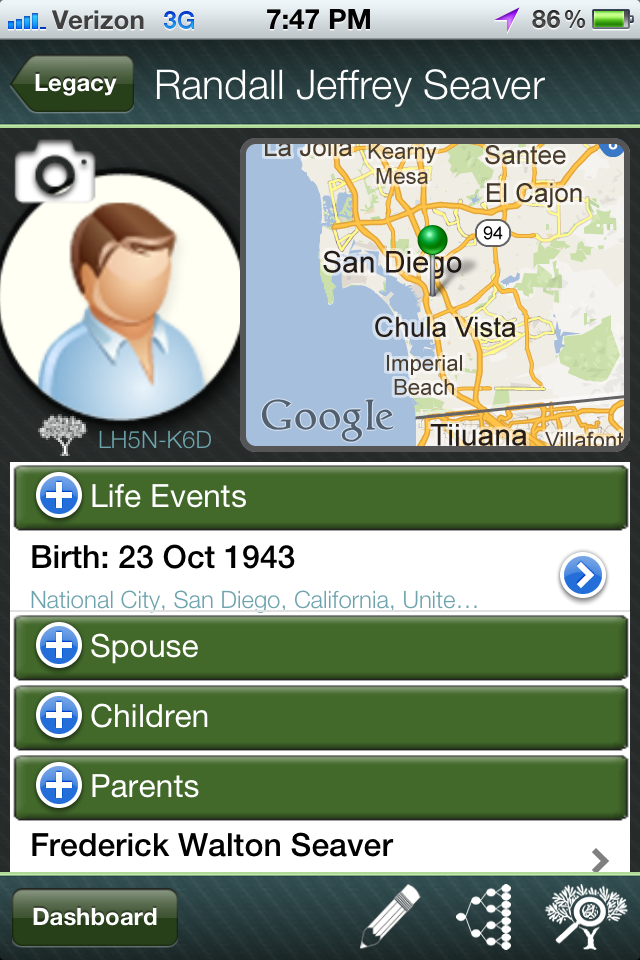 Genea-Musings: First Look at Legacy Mobile App for iOS