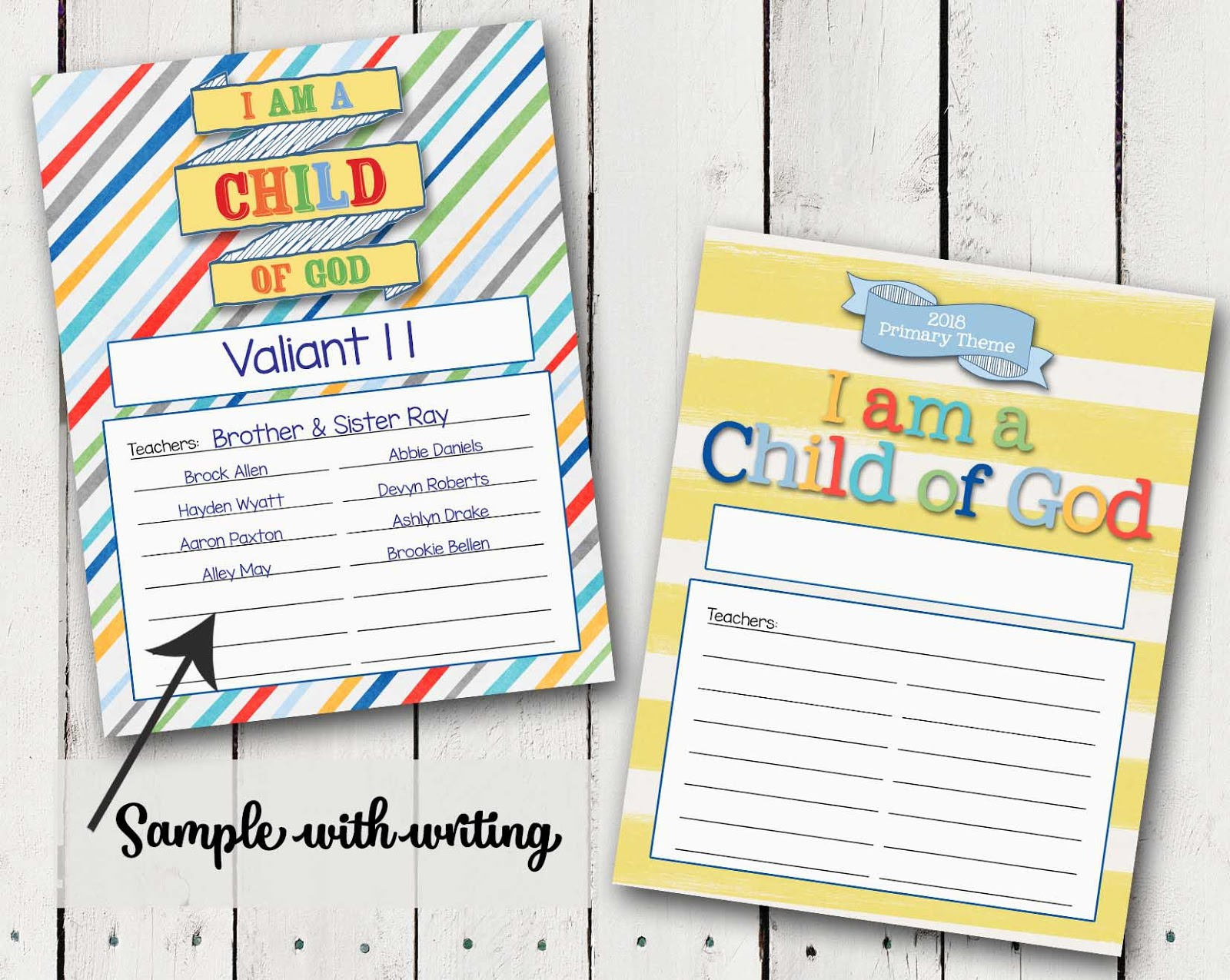 A pocket full of lds prints for Idea door primary printables