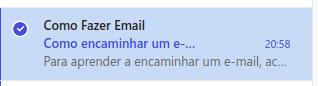 Como encaminho uma mensagem no Hotmail