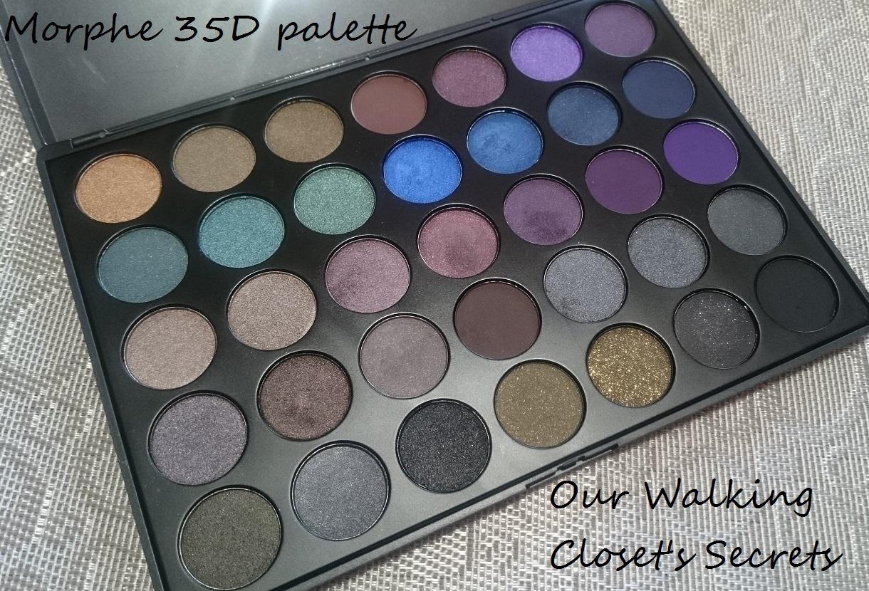 Lilou De La Palette our walking closet's secrets: morphe 35d palette breakdown review