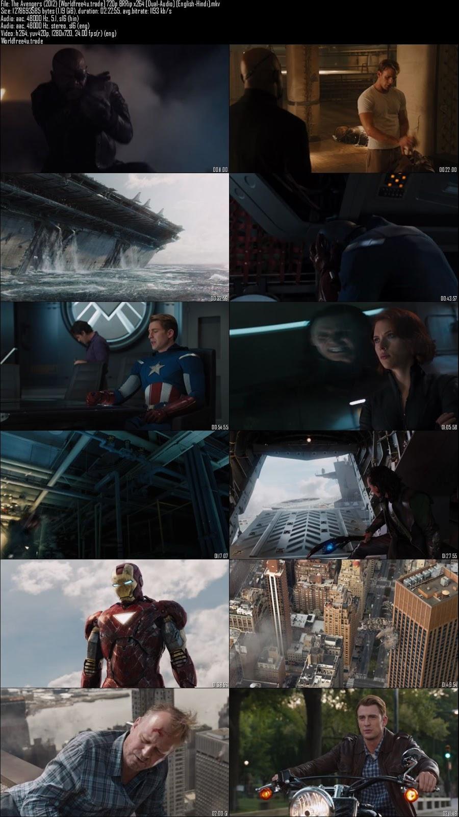 ScreenShot of The Avengers (2012) BRRip 720p Dual Audio In Hindi English