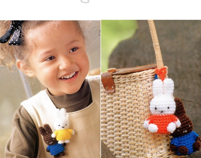 2 Amigurumi Miffy Bunny Crochet Plush Pattern PDF   CraftyLine epattern shop