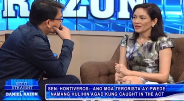 Int'l law expert knocks out Hontiveros: 'Your definitions of rebellion and invasion are wrong!'