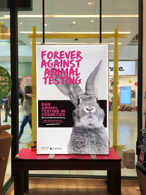 cruelty free, fight animal testing, cute rabbit, the body shop, leicester, highcross, highcross leicester