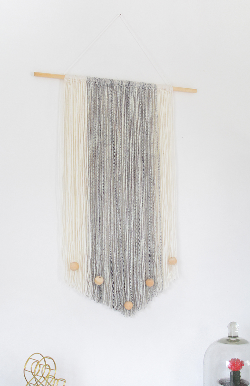 DIY | yarn wall hanging | burkatron | DIY + lifestyle blog