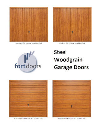 View the steel woodgrain garage doors from Fort Doors - click here