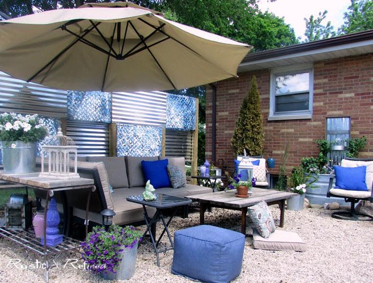 Backyard - Budget patio makeover