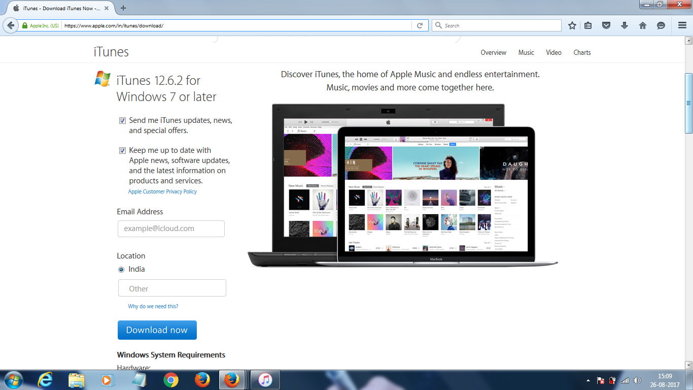 How to set up iTunes on your Windows PC and create an apple ID (INDIA)