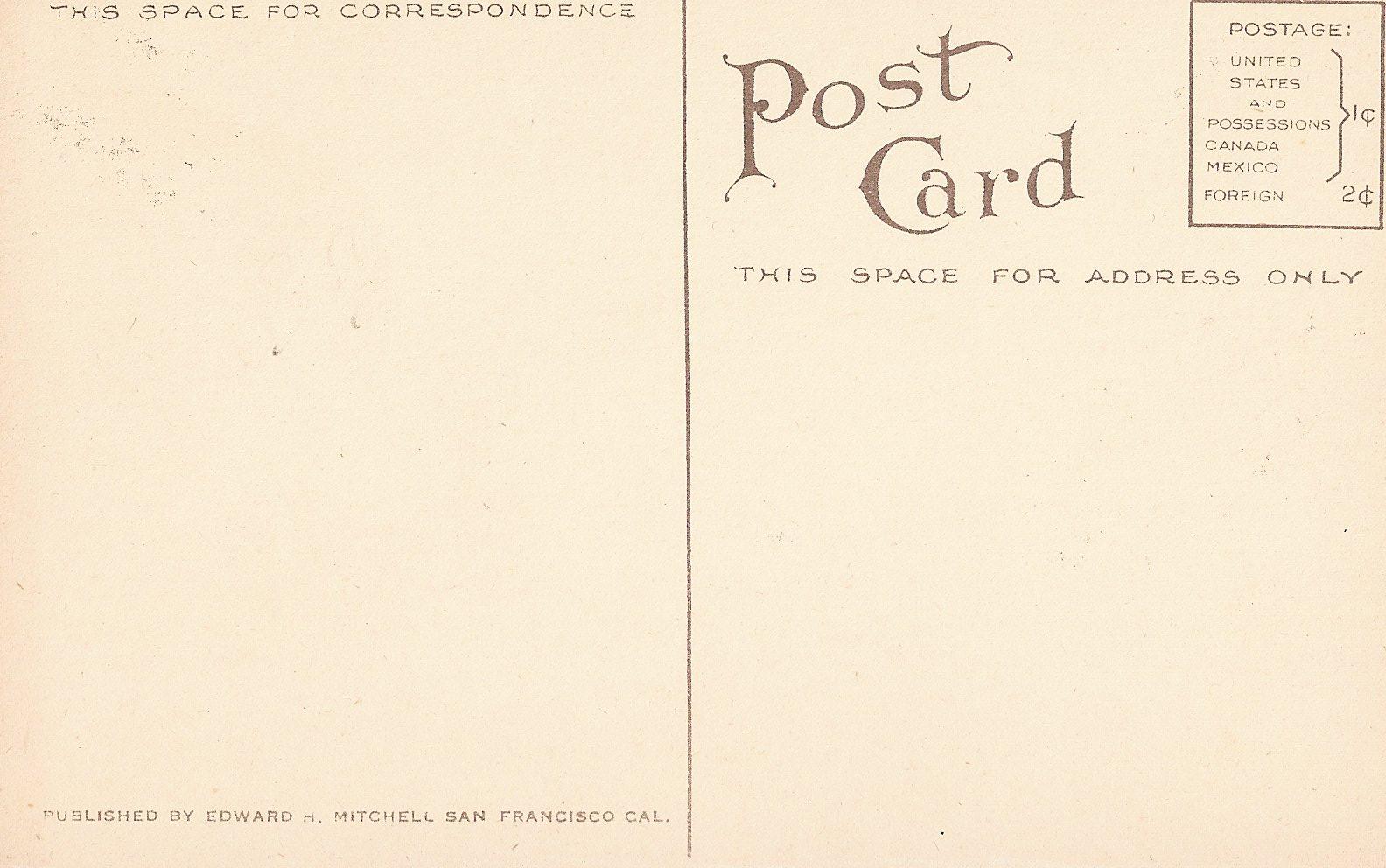 backside of postcard template - vintage postcard back template hot girls wallpaper