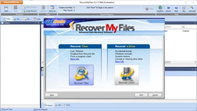 برنامج إستعادة الملفات المحذوفة Recover recover-my-files-scr